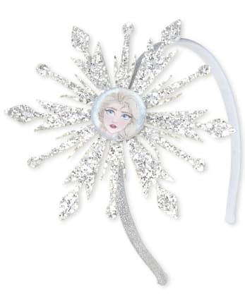 Girls Disney Frozen 2 Glitter Elsa Snowflake Headband