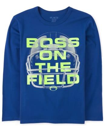 Boy/'s Football Glow In The Dark T-shirt Size 10//12