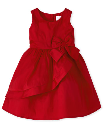 Toddler And Girls Very Merry Ruffle Fit And Flare Dress
