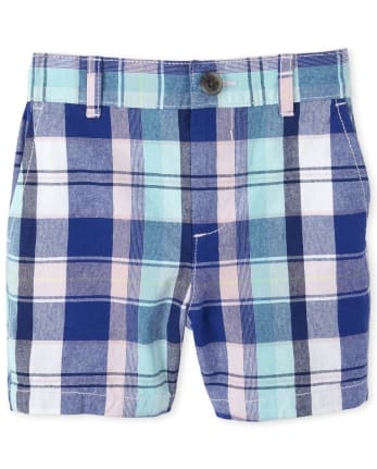 Baby And Toddler Boys Plaid Chino Shorts