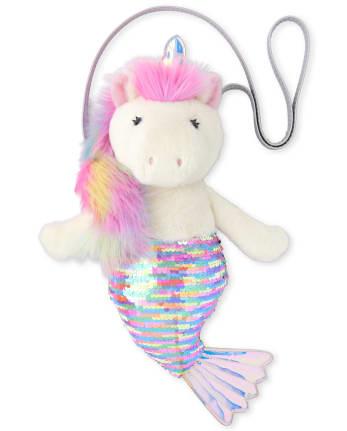 Girls Flip Sequin Mermaidcorn Faux Fur Bag