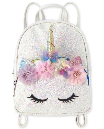 Girls Glitter Unicorn Mini Backpack