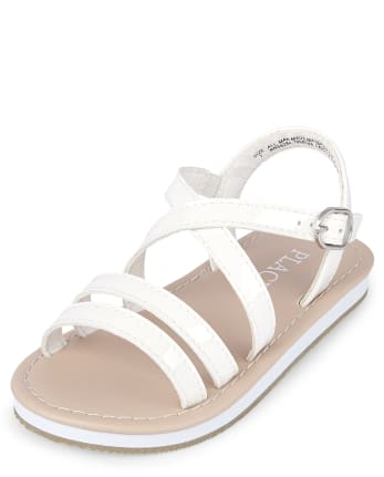 Toddler Girls Metallic Gladiator Sandals