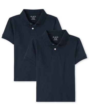 Boys Uniform Pique Polo 2-Pack