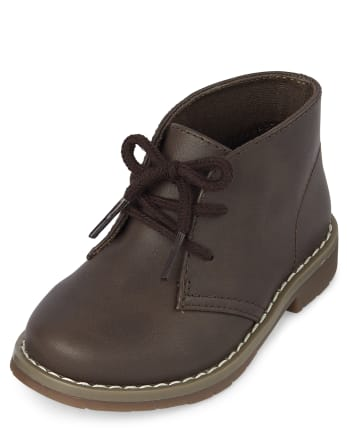 Toddler Boys Uniform Lace Up Boots