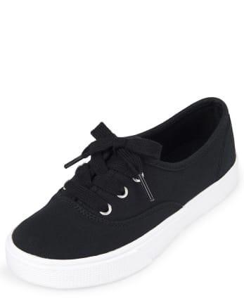 Girls Uniform Lace Up Sneakers