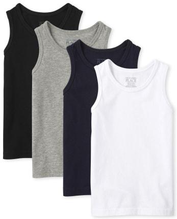 Pack de 4 camisetas sin mangas básicas Mix And Match para bebés y niños pequeños