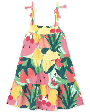 Baby Peasant Dress Two-tti Fruiti Two-tti Fruiti Baby Dress Baby Fruit Dress Baby Clothing Baby Dress Baby Sundress Baby Summer Dress
