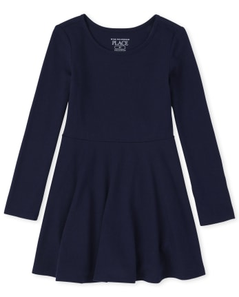 Toddler Girls Uniform Skater Dress