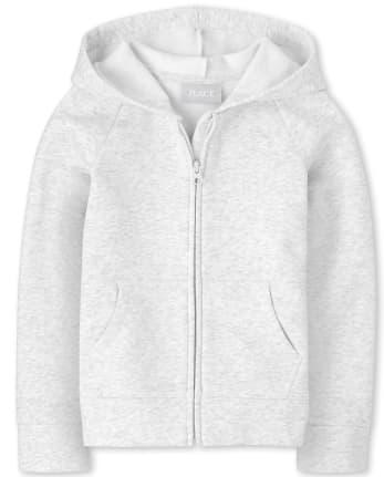 Girls Uniform Active Fleece Zip Up Hoodie