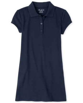 Girls Uniform Polo Shift Dress