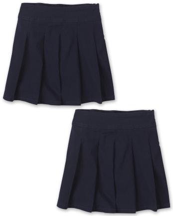 Girls Uniform Pleated Skort 2-Pack
