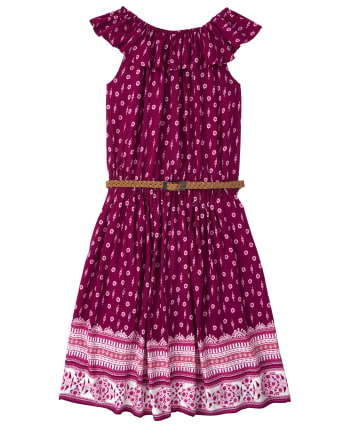 Womens Mommy And Me Floral Matching Peasant Dress