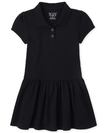Toddler Girls Uniform Pique Polo Dress