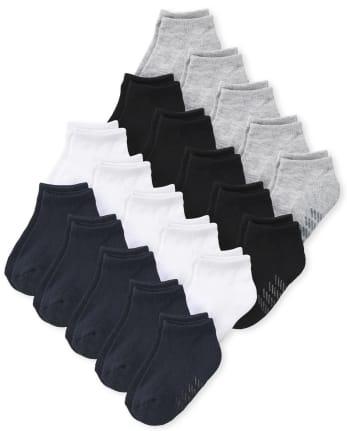 Pack de 20 calcetines tobilleros unisex para bebés y niños pequeños