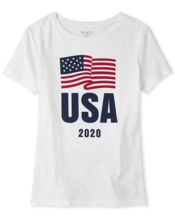 Womens Matching Family USA Olympics Graphic Tee