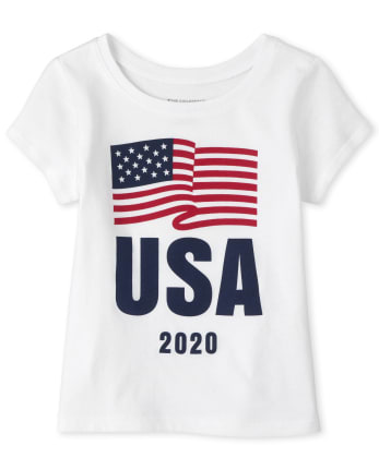 Baby And Toddler Girls Matching Family USA Olympics Graphic Tee