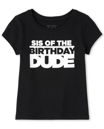 Baby And Toddler Girls Matching Family Birthday Graphic Tee