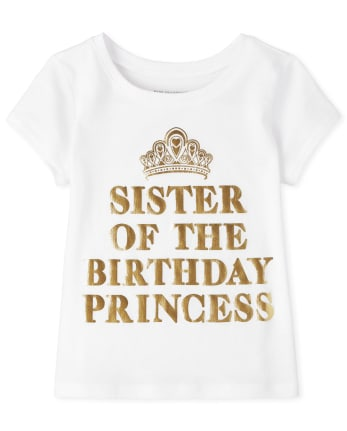 Baby And Toddler Girls Birthday Sister Graphic Tee
