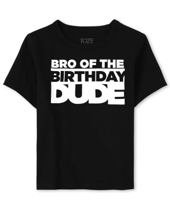 Baby And Toddler Boys Matching Family Birthday Graphic Tee