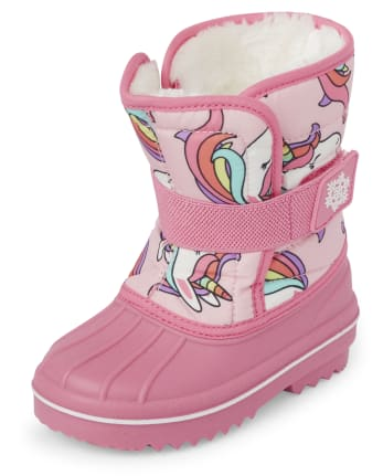 Toddler Girls Unicorn Snow Boots