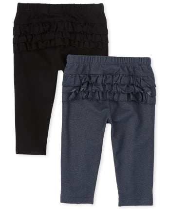 Baby Girls Ruffle Pants 2-Pack