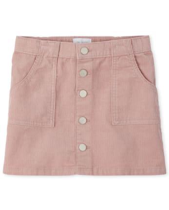 Girls Pocket Cord Skirt