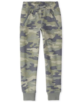Girls Active Camo French Terry Jogger Pants