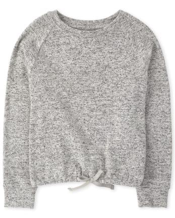 Girls Active Tie Front Lightweight Sweater Top