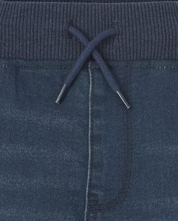 The Childrens Place Boys Super-Soft Stretch Denim Sweatpant Jeans