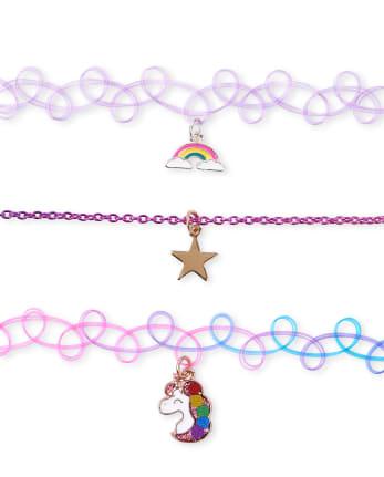 Rainbow choker 1