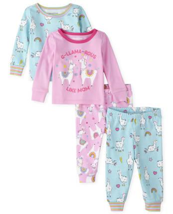 NWT 3-6M 6-9M 12-18M The Children/'s Place Girls LLAMA Fleece Blanket Sleeper
