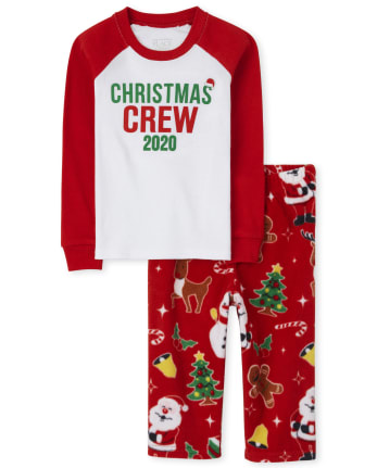 Unisex Baby And Toddler Matching Family Christmas Crew Snug Fit Cotton And Fleece Pajamas