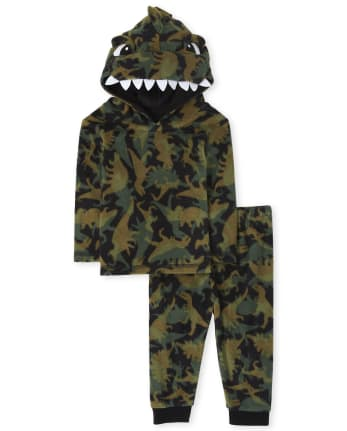 Unisex Baby And Toddler Matching Family Dino Fleece Pajamas