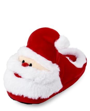 Unisex Kids Matching Family Santa Slippers