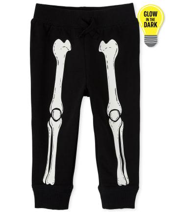 Baby And Toddler Boys Halloween Glow Skeleton Jogger Pants