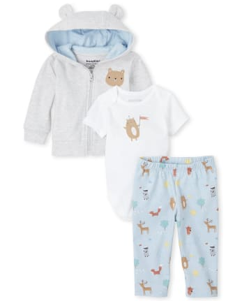 Baby Boys Happy Bear 3-Piece Take Me Home Set