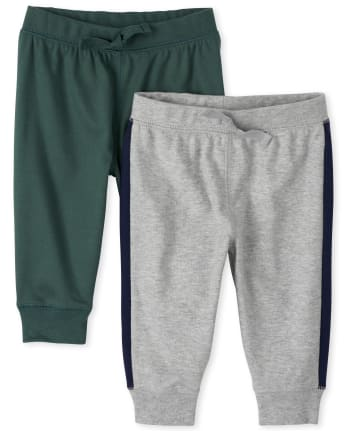 Baby Boys Side Stripe Pants 2-Pack