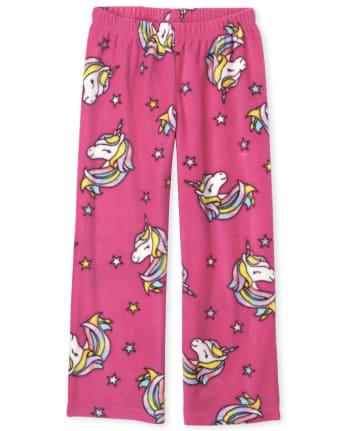 Girls Unicorn Star Fleece Pajama Pants
