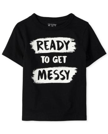 Baby And Toddler Boys Messy Graphic Tee