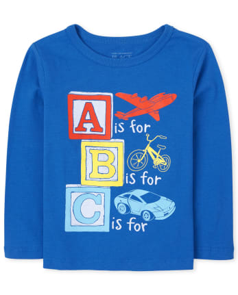 Baby And Toddler Boys ABC Graphic Tee