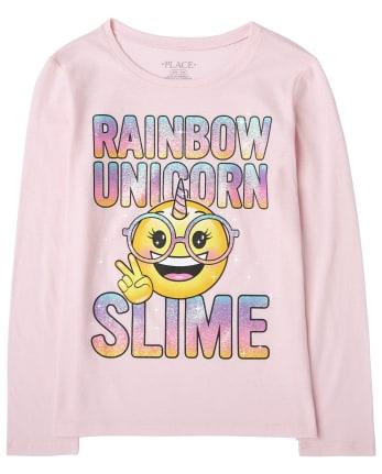 Girls Unicorn Slime Graphic Tee
