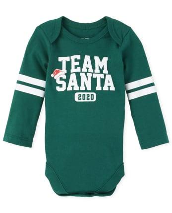 Unisex Baby Matching Family Christmas Team Santa Graphic Bodysuit