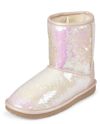 Girls Sequin Boots