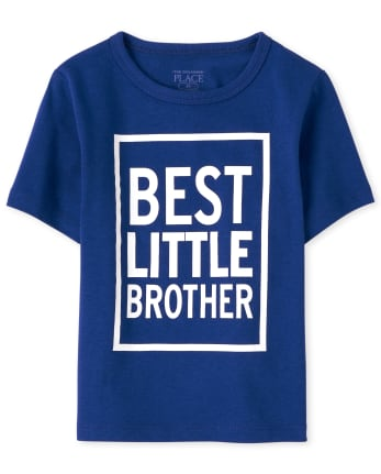 Baby And Toddler Boys Best Little Brother Graphic Tee