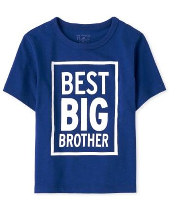 Camiseta estampada Best Big Brother para bebés y niños pequeños