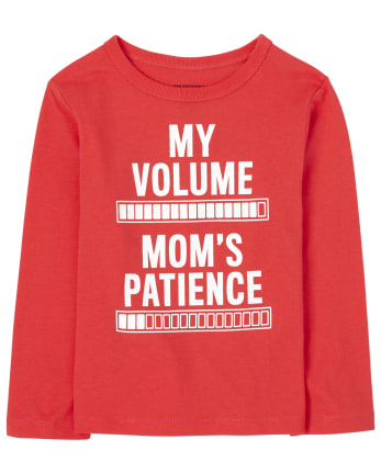 Baby And Toddler Boys Mom's Patience Graphic Tee