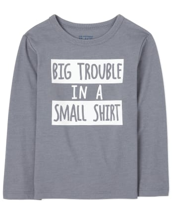 Baby And Toddler Boys Big Trouble Graphic Tee
