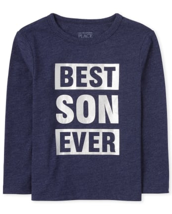 Baby And Toddler Boys Matching Family Foil Best Ever Graphic Tee
