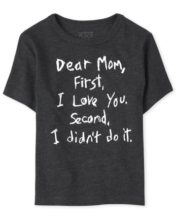 Baby And Toddler Boys Dear Mom Graphic Tee